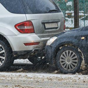 car crash collision in winter | Bellenot & Boufford, LLC
